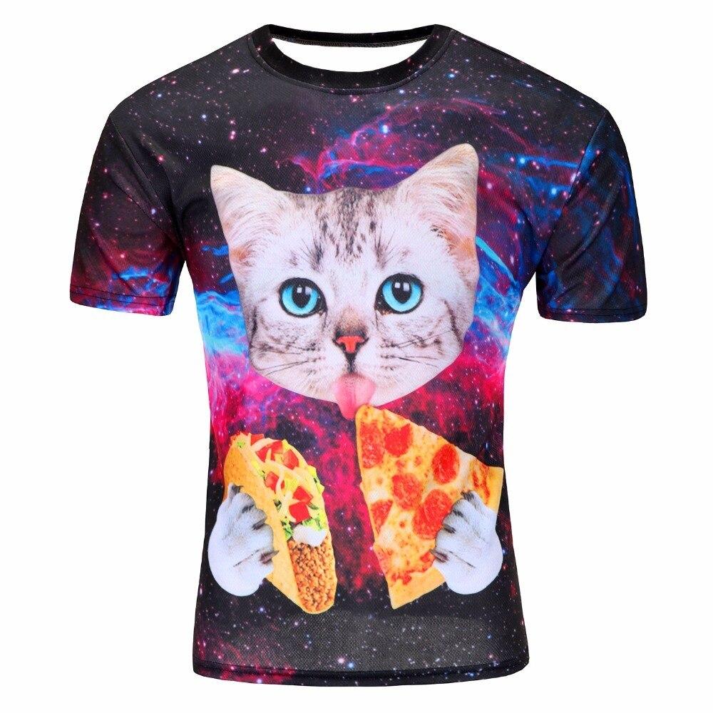 GOJW Nuovi di Estate Del Progettista 3D Stampato T Shirt Uomo Manica Corta Maglietta Creativo foresta Uomo T-Shirt M-4XL più il formato top & tees