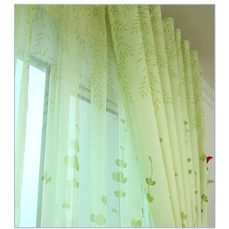 Aliexpress.com : Buy {Byetee} Free Shipping Half Shading Customize Green  Window Curtain For Living Room Bedroom Fabric Cloth Kitchen Sheer Curtains  From ... Part 75