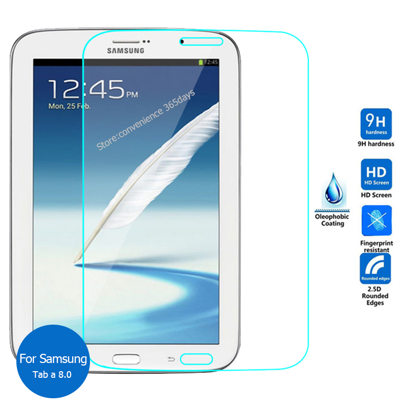 For Samsung Galaxy Tab A 8.0 Tempered Glass screen Protector 2.5 9h Safety Protective Film On TabA 8 T350 T355 P355 T 350 355
