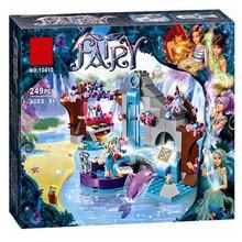 Bela 10410 Fairy Elves Naida's Secret Spa Building Blocks Set Toys Compatible Friends 41072 for Girl Christmas gift цена и фото