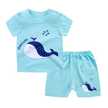 цены на 2019 new baby boy and girl clothes body suit quality 100% cotton children t shirt summer cartoon kids clothing sets tshirt  в интернет-магазинах