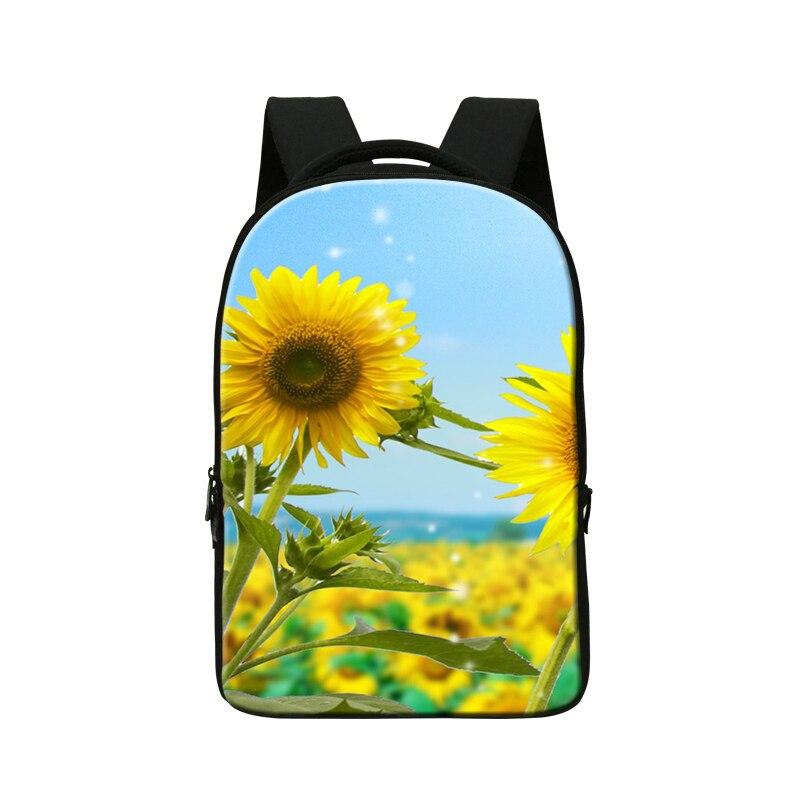 School Smart Laptop Bag for 14 Inch Devices women s 3D flower bag Designed for School