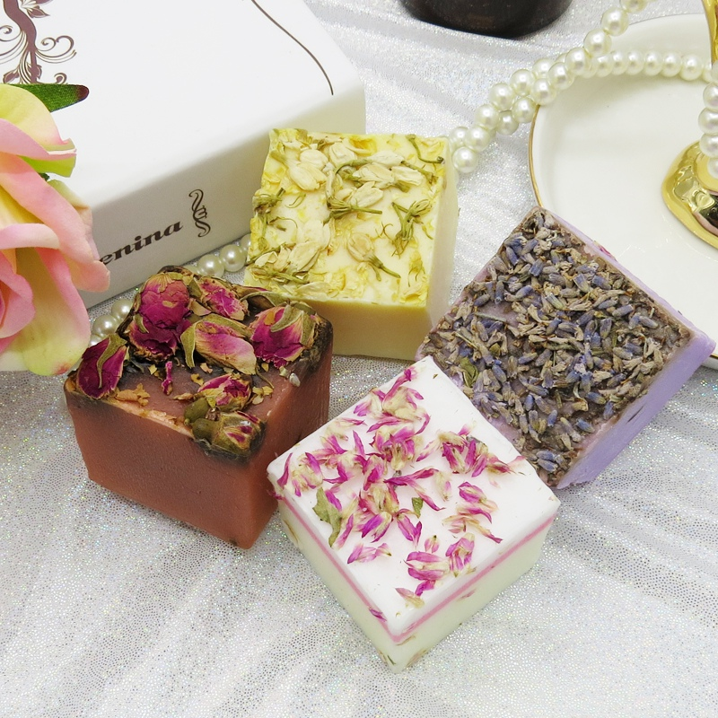 Fashion Plant Handmade Soap Hair Shampoo Soap Cold Processed Shampoo Rose Lavender Bar Plant Hair Care