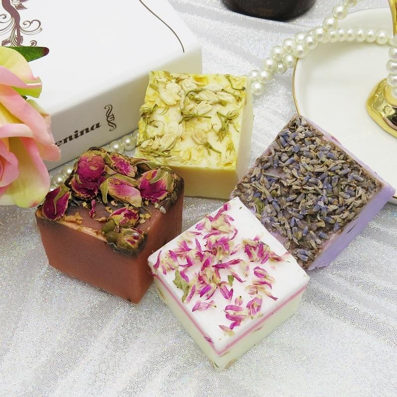 Fashion Plant Handmade Soap Hair Shampoo Soap Cold Processed Shampoo Rose Lavender Bar Plant Hair Care