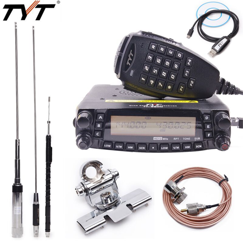 TYT TH 9800 Plus Quad Band Cross Band Mobile Car Ham Radio Transceiver with Original TYT TH9800 Quad Band Antenna TH 9800 Radio
