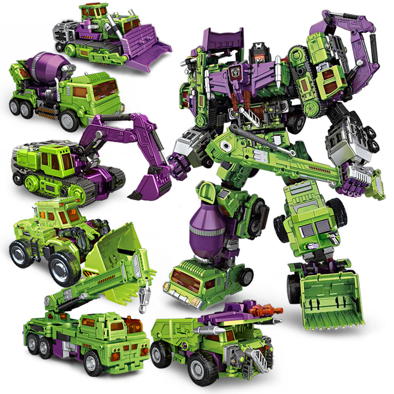 NBK New Devastator Transformation Boy Toy Oversize Action Figure Robot Car Truck Fire Rescue Excavator Crane