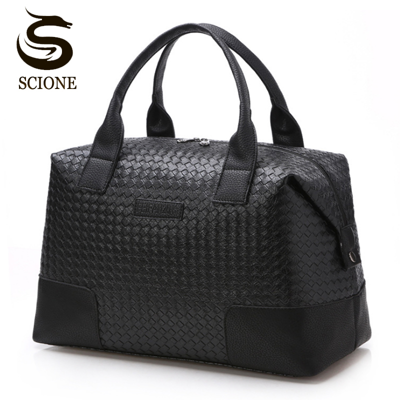 Hot Fashion PU Leather Men Travel Bag Versatile Women Travel Handbag Waterproof Black Cool Zipped Shoulder Bags Handbag luggage сумка handbags for women pu versatile handbag