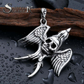 steel soldier stainless steel wing skull men pendant punk top quality jewelry for men and boy
