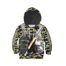f1a8afe3e Niño bomberos casual sudaderas niños 3D impreso Sudadera con capucha del  swat trajes de camuflaje uniforme
