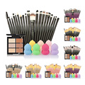 Pro Makeup Set 6 Colors Concealer Palette Foundation Sponge Puff 20 makeup brushes Face Contour Cosmetic Make Up Tools Brand Kit