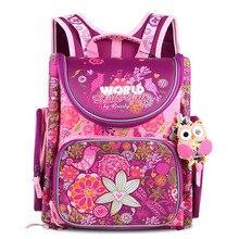 Grizzly Children Kids Backpack Infantil School Bags for Girls Primary Bookbag Floral Cartoon Pattern Waterproof Mochila