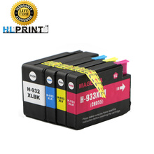 4 Compatible HP 932 933 Ink Cartridges for 932XL 933XL OfficeJet 6100 6600 6700 7110 7610 7612 hp932 hp933 Printer (With chips)