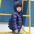 Crianças Jaquetas Casacos Meninos Meninas Para Baixo Jaqueta de Inverno Dos Desenhos Animados Infantis Meninos Outerwear para 2-6 Anos