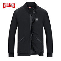 Autumn and Winter Jacket Men Fashion Casual Keep Warm Mens Windbreaker Round Neck Solid Slim Zipper Bomber Jacket Size M 8XL