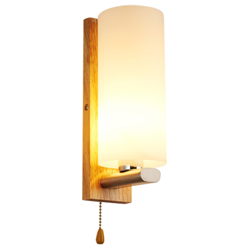 Modern Bedside Wall Lamp Simple Creative Solid Wood Wall Lamp LED Bedroom Living Room Hallway Hotel Wall Lamp худи rebel raglan
