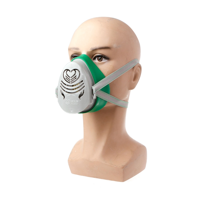 N3800 Anti-dust Facepiece Filter Paint Spraying Cartridge Respirator Gas Mask Clients First Fire Protection
