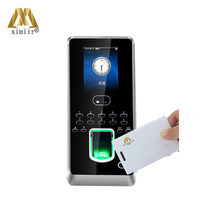 Multibio800 H face recognition door access control system time attendance facial fingerprint 13.56MHZ IC card time clock