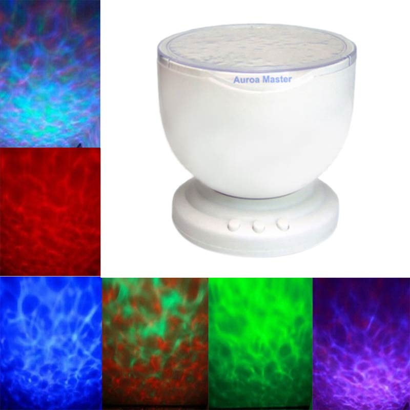Night Light Power Bank Multi Color Colorful Aurora Master Ocean Wave Projector LED Decoration Kid Children Gift   CLH садовый насос aurora agp 1300 multi 5p