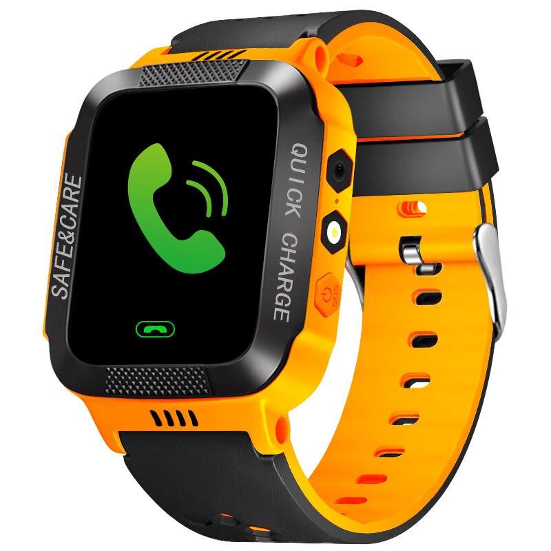 Kids Watch LBS Location Tracker SOS SIM Call Smart Wristwatch Waterproof Clock with Camera Flashlight Gift For Child Girls Boys gps smart watch for kids