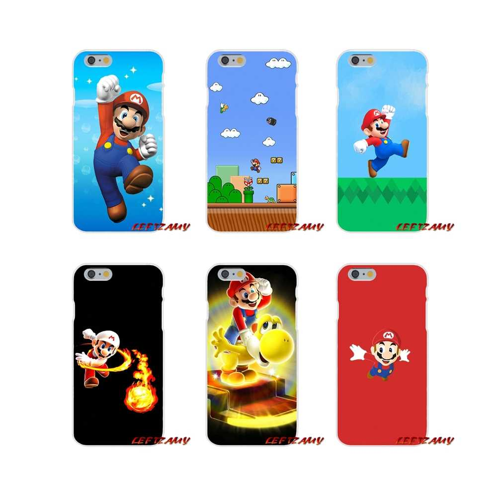 Super Mario Bros accesorios de la cáscara del teléfono cubre para iPhone X XR XS MAX 4 4S 5 5S 5C iPhone 6 6 6 S 7 7 Plus ipod touch 5 6