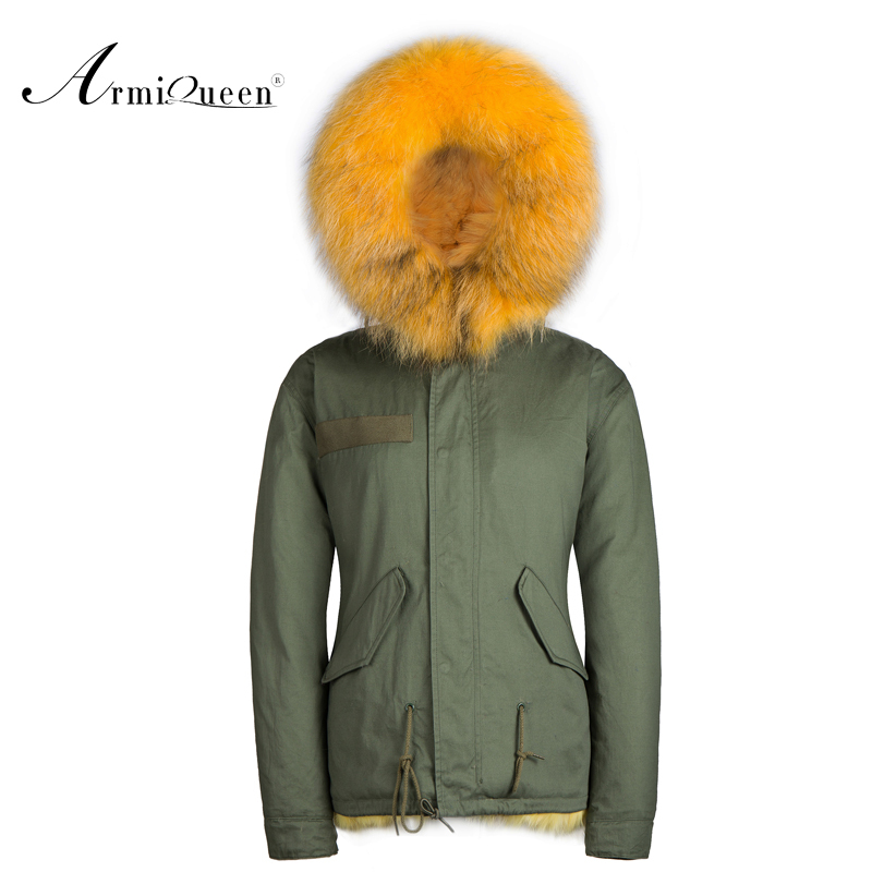 Winter Thick Removable Fur Collar Coat Outerwear fox Fur   parka   for Man