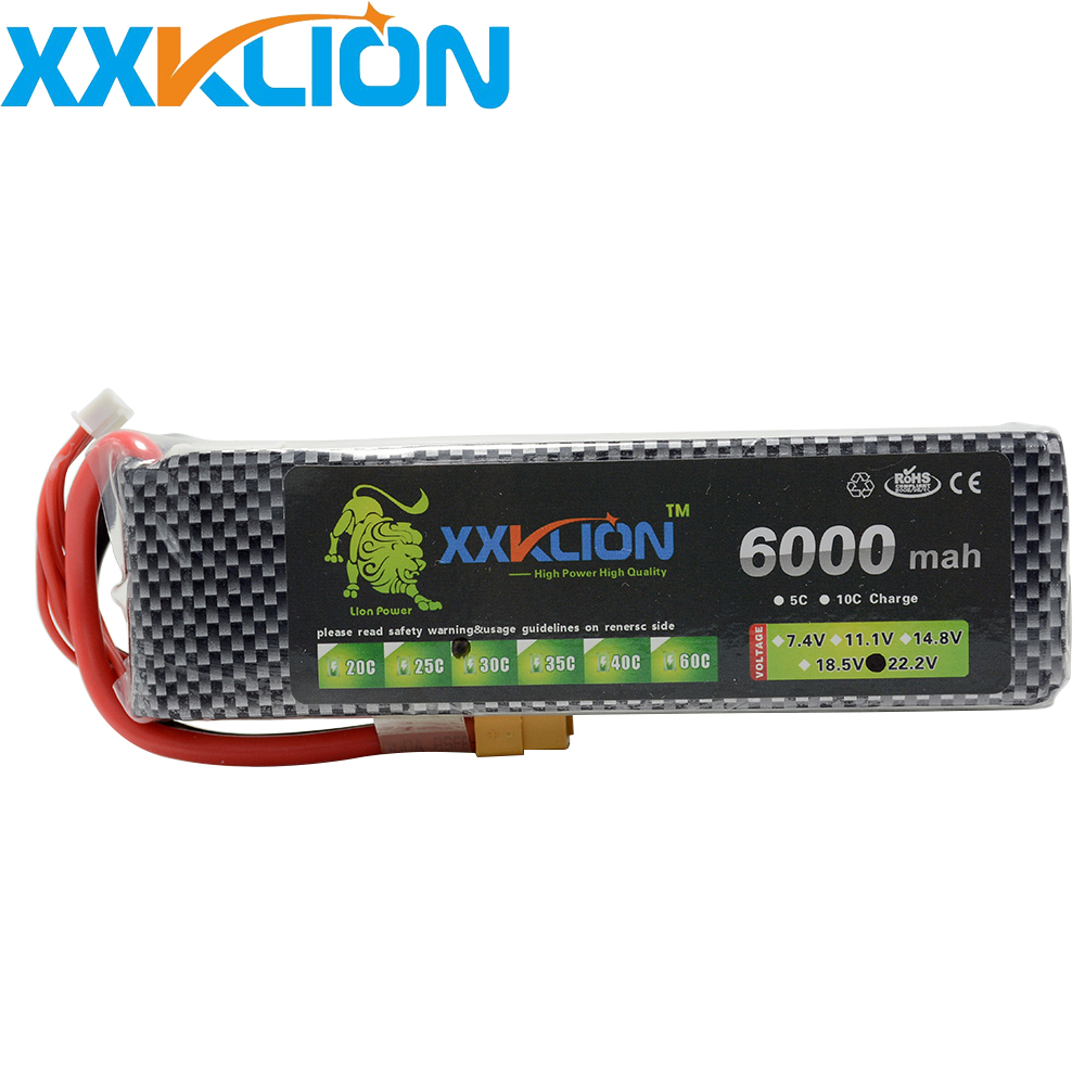 XXKLION 3S Lipo Battery 11.1V 6000MAH 30C RC Remote Control Helicopter Aerial photography Remote control car Model Battery 1s 2s 3s 4s 5s 6s 7s 8s lipo battery balance connector for rc model battery esc