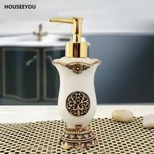 classic retro royal handmade lotion dispenser resin bath room accessory soap dispenser for kitchen bathroom 180ml