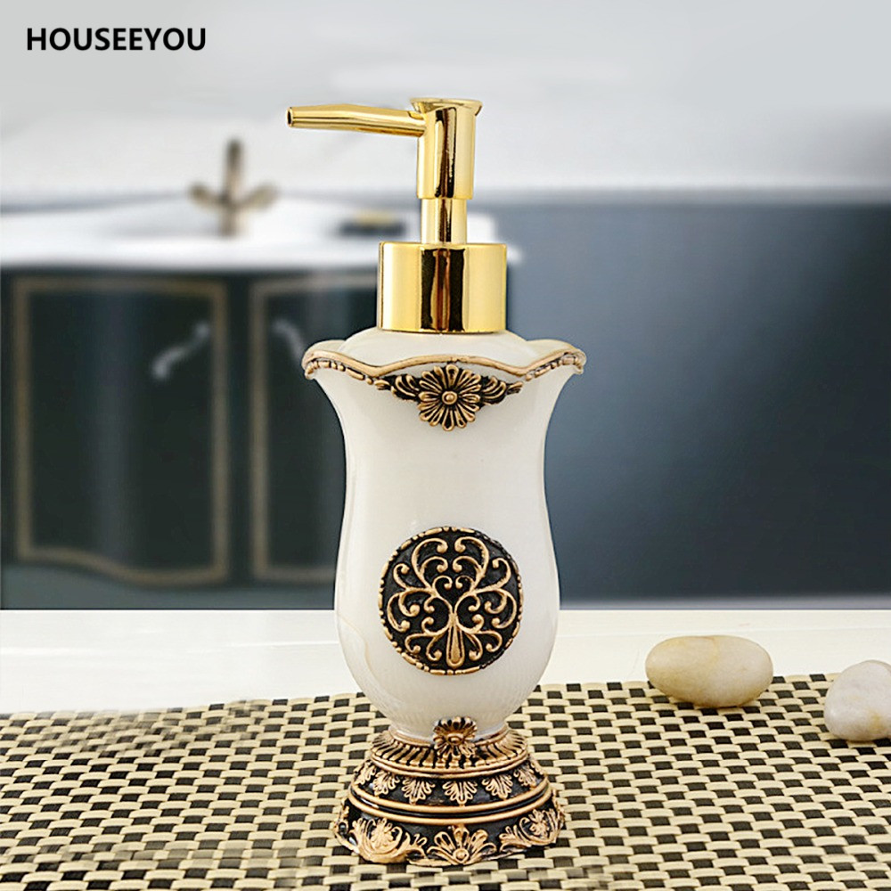classic retro royal handmade lotion dispenser resin bath room accessory soap dispenser for kitchen bathroom 180ml