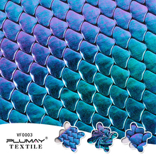 Iridescent Laser Sparkly Mermaid Costume Fabric DIY Hologram Spandex 4 Way Stretchy fabric for skirt tail swimwear