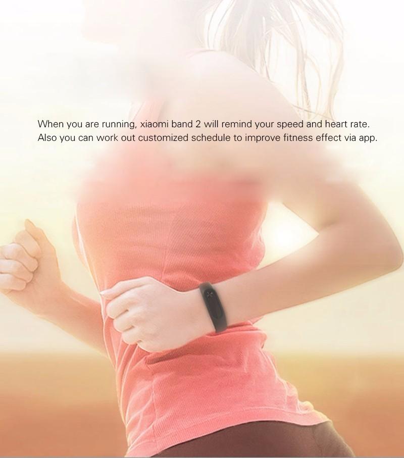 Original Xiaomi Mi Band 2 Fitness Smart Bracelet,Heart Rate Pulse Monitor,Pedometer,Activity Tracker,Bluetooth Smart Wristband 12