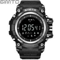 GIMTO Brand Digital Sport Watch Men Military Pedometer Barometer Smartwatch LED Shock Waterproof Stopwatch Diving Male