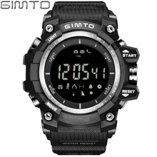 GIMTO Brand Digital Sport Watch Men Military Pedometer barometer Smartwatch LED Shock Waterproof Stopwatch Diving  Male Clock