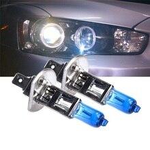 LED لمبات مصباح هالوجين H1 H3 DC12V 55 واط 100 واط الأبيض مصباح إضاءة ليد أنبوب المصابيح الأمامية سلسلة led الأضواء ل مصباح ليد لمبة 2 قطعة