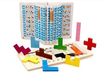 цена Classic IQ Tetris Wooden Puzzle Pentomino Logic Brain Teaser Puzzles Game for Adults Children онлайн в 2017 году