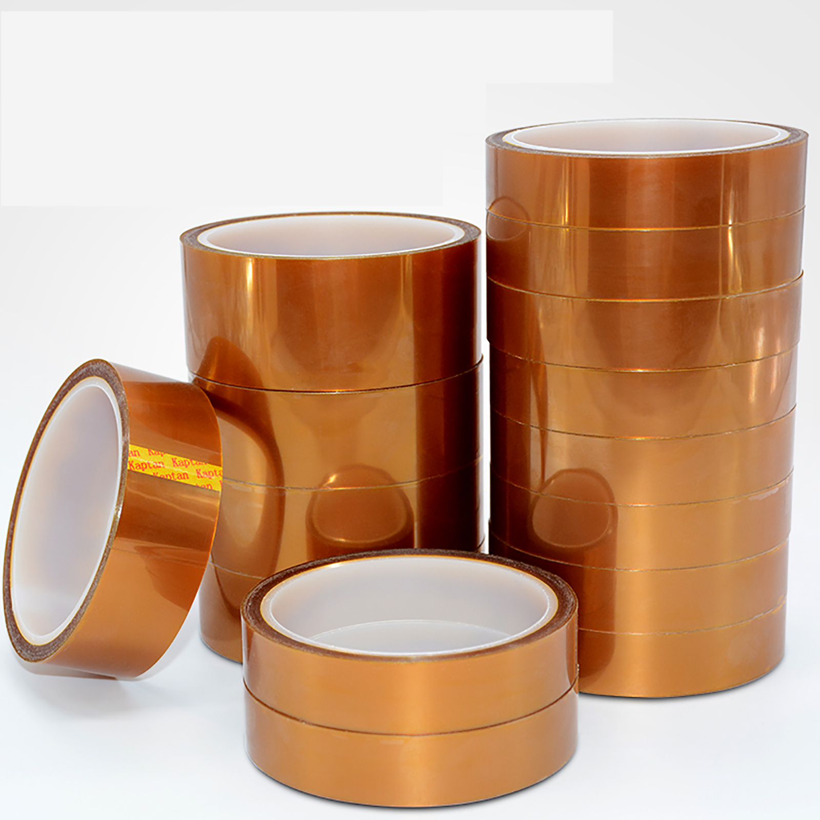 10M/Roll Double-sided Kapton Tape Adhesive High Temperature Heat Resistant Polyimide 0.1mm Thickness