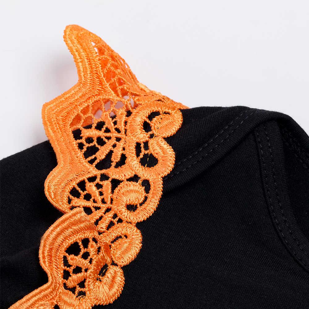 YK & Loving вышивка качели ползунки комплекты одежды Хэллоуин пряжа юбки новорожденных девочек детский наряд Hallowmas детские подарки одежда