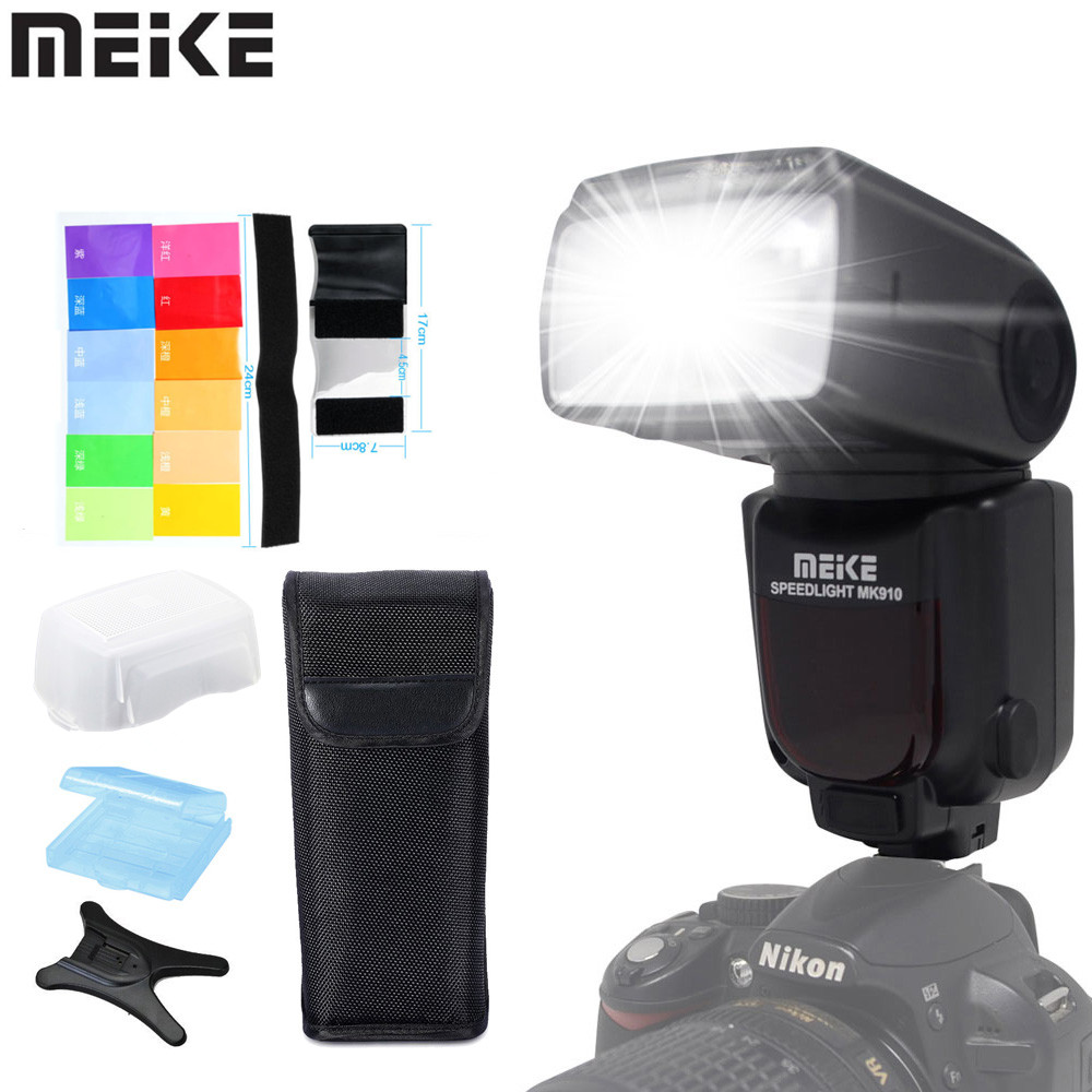 Meike MK-910 MK910 i-TTL 1/8000s HSS Sync Master & Slave Flash Speedlight for Nikon SB-910 SB-900 D7100 D800 D750 D600 D80 DSLR nikon speedlight sb 700