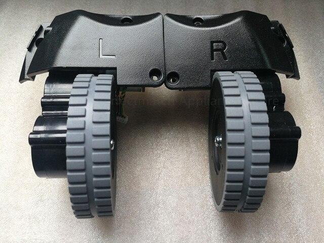 الأصلي اليسار اليمين عجلة مع محرك ل جهاز آلي لتنظيف الأتربة ilife A6 A8 ilife X620 X623 جهاز آلي لتنظيف الأتربة أجزاء عجلة المحرك