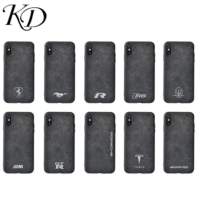 pick up ec78c 0d5bd US $3.65 6% OFF|Phone Cases for iphone 6 6S 7 8 Plus Motorsport Gran  Turismo GTR Turn Fur for iphone X XR XS Max 10 AMG Car Leather Cover  Case-in ...