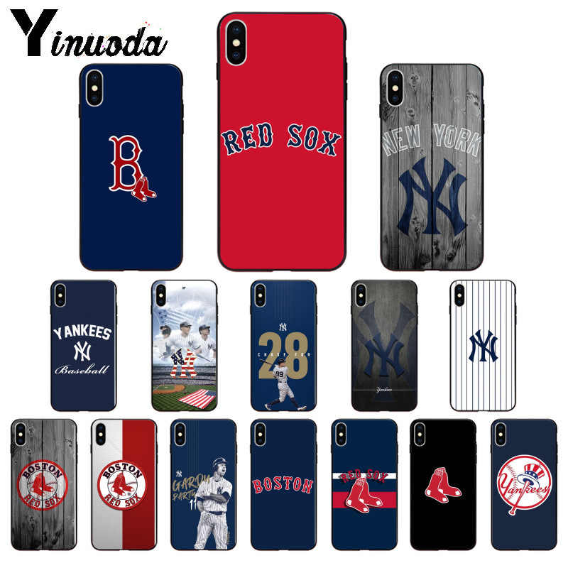 cheap for discount 70787 76861 Yinuoda New York Yankees Boston Red Sox Baseball Soft TPU Phone Case Cover  for iPhone X XS MAX 6 6s 7 7plus 8 8Plus 5 5S SE XR