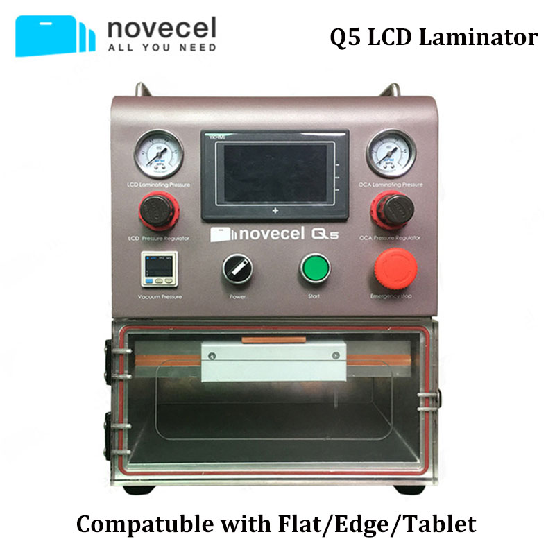 Q5 LCD Laminating Machine for iPhone Samsung iPad Glass OCA Polarizer Laminate with Vaccum Pump Electrical Tool Set