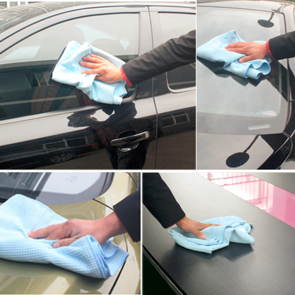 2016 New Useful High Quality Car Drying Towel Blue Waffle Weave Microfibre 60 x 80cm Hot Selling! ...