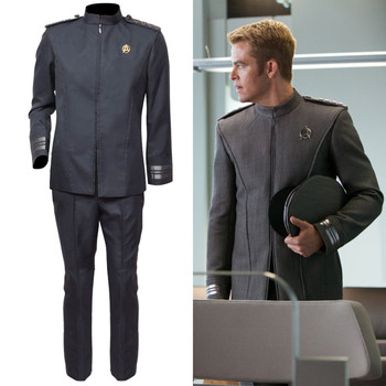 Free Shipping Cosplay Costume Star Trek Into Darkness Kirk Uniform Halloween Christmas Anime  Game