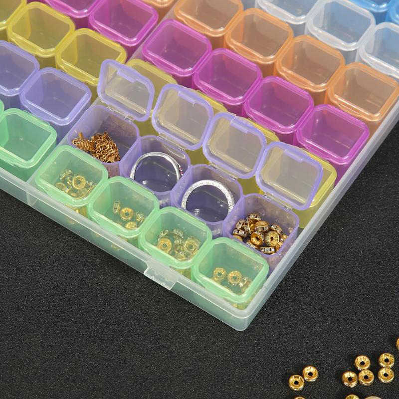 56 Grids 5D DIY Diamond Painting Drill Box Jewelry Box Rhinestone Embroidery Crystal Bead Organizer Storage Case Container