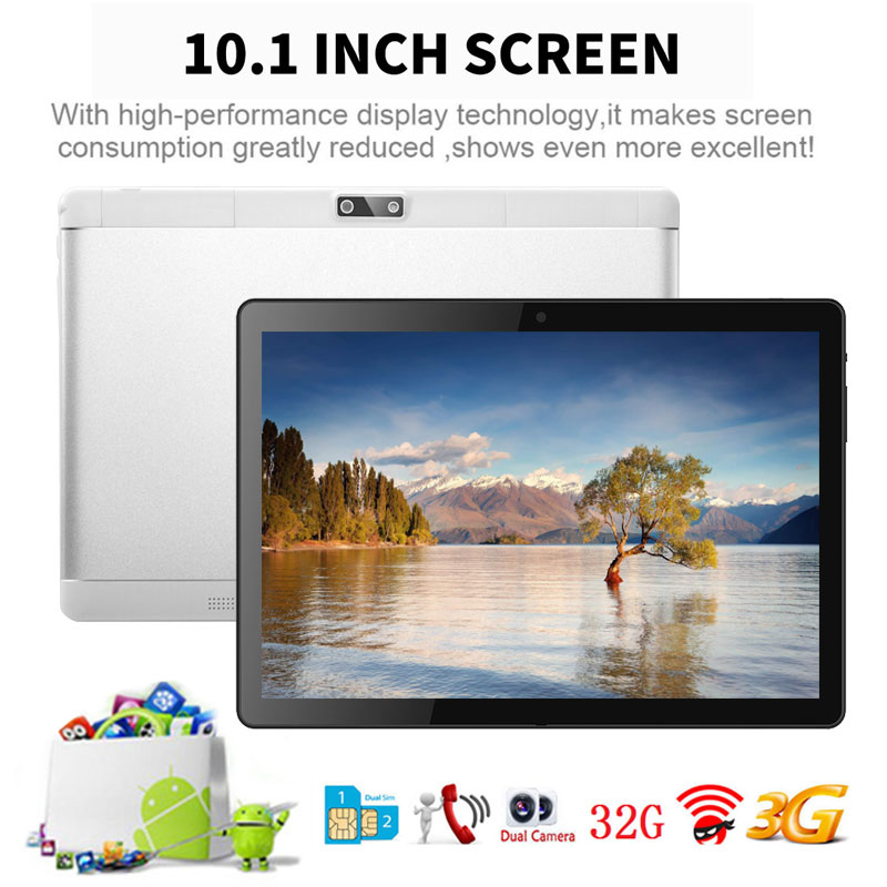 NERLMIAY 10.1 Inch Tablet PC Android 5.1 IPS 3G call RAM 2GB ROM 32GB WIFI Dual SIM Dual Cam Smart tablets phone Built-in MIC 10 1 inch new tablet pc 3g call eight core fingerprint identifi cation android system 2gb 32gb rom bluetooth wifi
