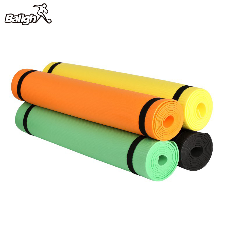 173cm Yoga All-Purpose 4mm Extra Thick High Density Anti-Tear Exercise Yoga Mat With Carrying Strap