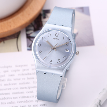 Hombres Contraseña Swatch Fresco Y Azul Reloj Gl401 Clásico Color Serie Mujeres Cuarzo hrdtsCxQ
