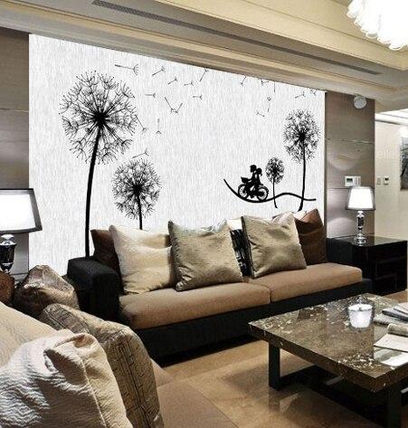 Benutzerdefinierte 3D fototapete Große moderne wohnzimmer sofa TV ...