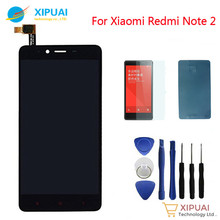 New For Xiaomi Redmi Note 2 LCD Display Touch Screen Digitizer Assembly Replacement Tools Adhensive Tempered