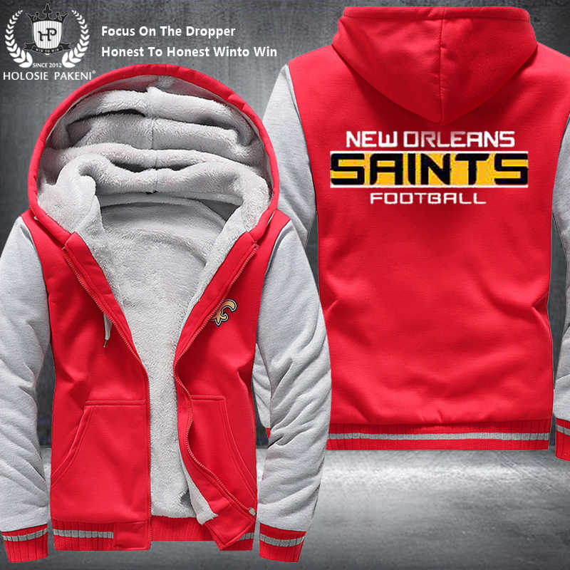 Hot Dropshipping USA Size Unisex New Orleans Saints Winter Thicken  for cheap
